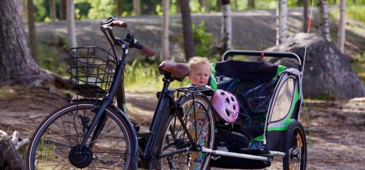 Cykelanhænger er fantastisk til en cykelferie med dit barn